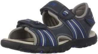 Geox Boy's JR Sandal Strada BOY Athletic Sandals, Grey/Lt Blue