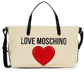 Love Moschino Logo Canvas Crossbody Bag