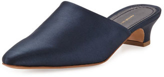 Mansur Gavriel Handbags Elegant Silk 40mm Mule Pump, Blue