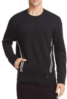 BLACKBARRETT by NEIL BARRETT Double Stripe Crewneck Sweatshirt