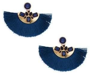 Ava & Aiden Goldtone Crystal Half-Circle Fringe Drop Earrings