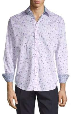 Robert Graham Printed Spread Collar Button-Down Shirt