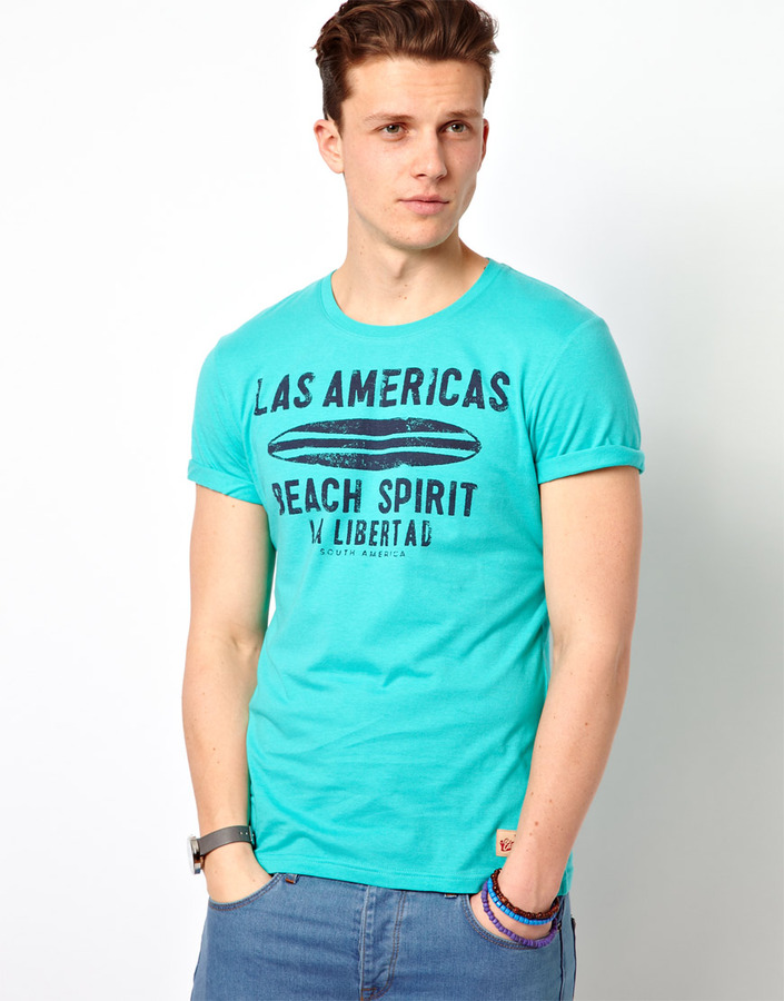 Esprit T-Shirt With Americas Beach Print