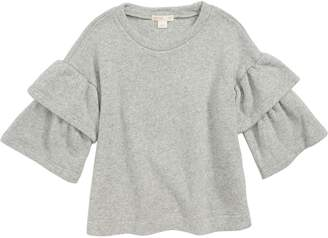 J.Crew crewcuts by Double Ruffle Sleeve Sweatshirt