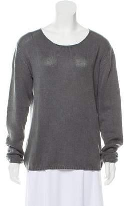 Prada Long Sleeve Scoop Neck Sweater