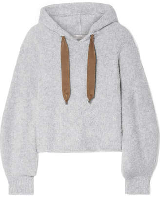 Brunello Cucinelli Cropped Bouclé Hoodie - Gray
