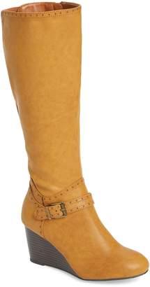 Mia Claretta Knee High Wedge Boot