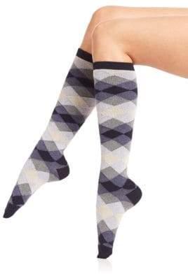 Ilux Dana Diamond Knee-High Socks