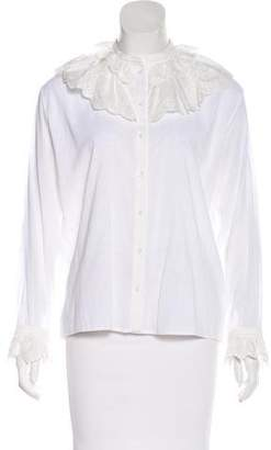 Vilshenko Eyelet Lace Trimmed Blouse w/ Tags