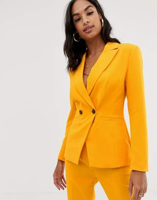 Asos Design DESIGN orange pop suit blazer