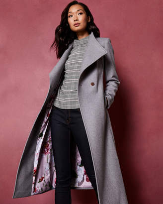 2f1da2201de Wool Blend Wrap Coat Ted Baker - ShopStyle