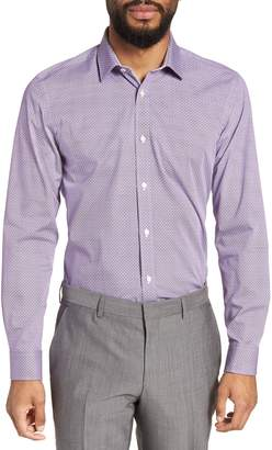 Ted Baker Rugber Slim Fit Print Dress Shirt