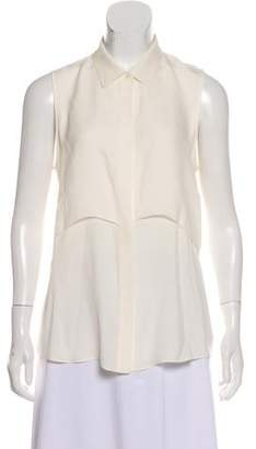 Theory Sleeveless Silk Blouse