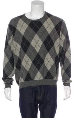 Ralph Lauren Purple Label Argyle Cashmere Sweater