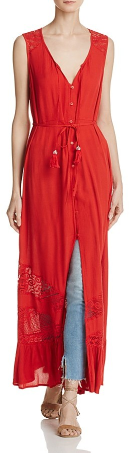 Band of Gypsies Lace-Inset Maxi Dress 2
