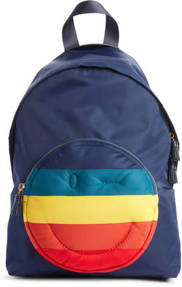 Anya Hindmarch Rainbow Chubby Wink Nylon Backpack