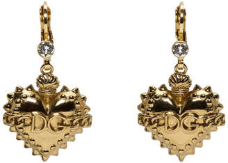 Dolce & Gabbana Gold Heart Drop Earrings