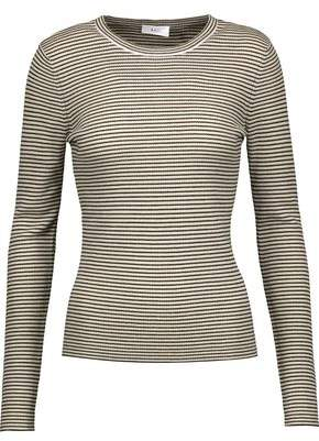 A.L.C. Ruby Striped Ribbed Merino Wool-Blend Sweater