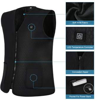 Yosoo Electric Heated Vest Powered by Power Bank Mobile Warming Inner Vest