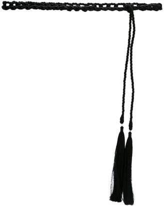 Olympiah woven rope belt