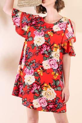 Umgee USA Red Floral Dress