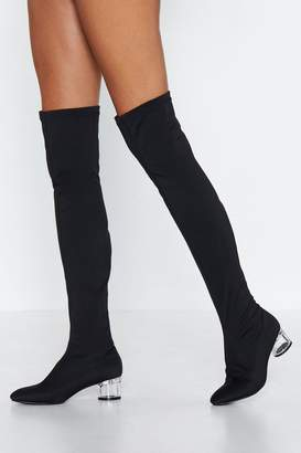 Nasty Gal Heart of Glass Over-the-Knee Boot