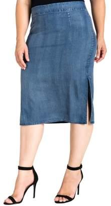 Standards & Practices Jade Side Slit Pencil Skirt