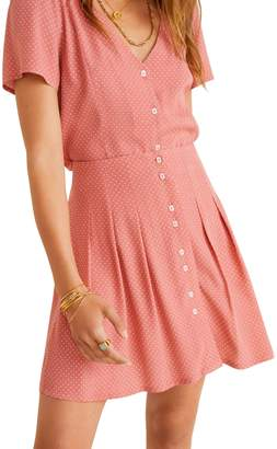 MANGO Alysa Dot-Print Pleated Skirt