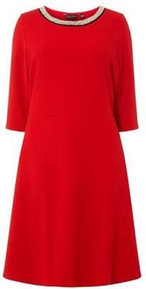 Dorothy Perkins Womens **DP Curve Red Embellished Neck