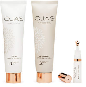 Ojas SPF 15 Lip Conditioner + SPF 30 Body Sunscreen + Anti-Aging After Sun Lotion