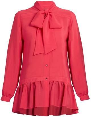 Etro Frida Tie Neck Silk Blouse - Womens - Pink