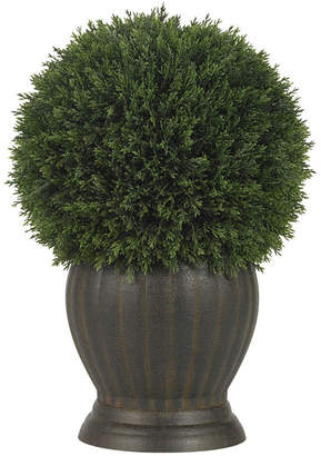 Asstd National Brand Nearly Natural Cedar Ball Topiary Silk Plant