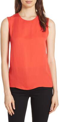 Diane von Furstenberg Mixed Media Lace Back Tank