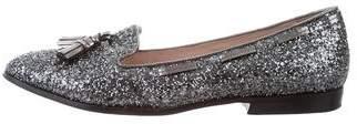 Miu Miu Tassel Glitter Loafers