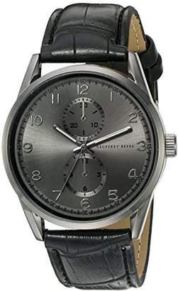 Geoffrey Beene Men's GB8065GUBK Analog Display Japanese Quartz Gun metal Watch
