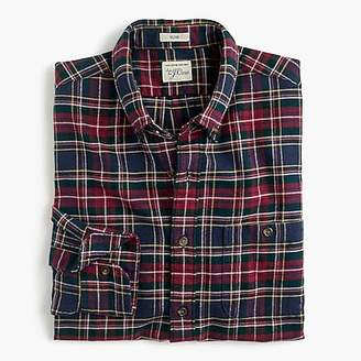 J.Crew Slim brushed heather elbow-patch shirt in plaid