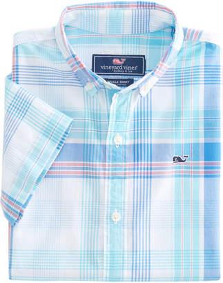 Vineyard Vines Boys Short-Sleeve Byram Shores Beach Tartan Whale Shirt