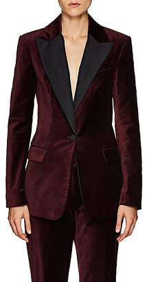 A.L.C. Women's Steele Silk-Trimmed Velvet One-Button Blazer - Wine