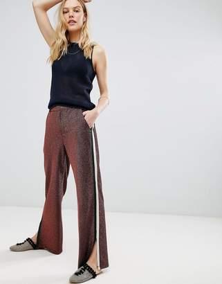 Maison Scotch Glitter Side Stripe Disco Pants