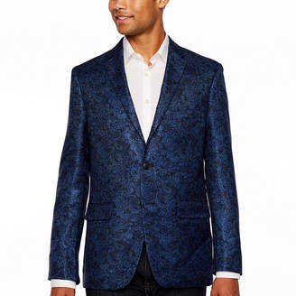 U.S. Polo Assn. Blue Paisley Slim Fit Sport Coat