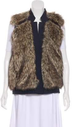 Rebecca Taylor Faux Fur Zip-Up Vest