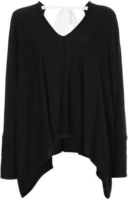 Taylor asymmetric V-neck jumper