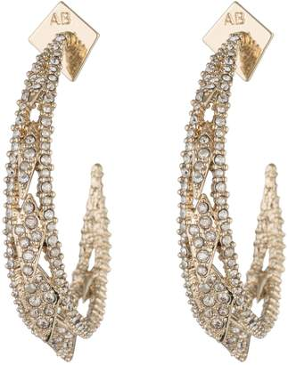 Alexis Bittar Spiked Crystal Encrusted Hoop Earrings