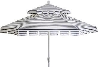 One Kings Lane Poppy Two-Tier Patio Umbrella - Indigo