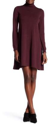 Max Studio Turtleneck Long Sleeve Sweater Dress