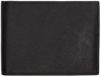 Common Projects Black Saffiano Bifold Wallet