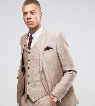 Heart & Dagger Skinny Suit Jacket In Linen