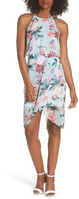 Chelsea28 Drape Front Blouson Dress