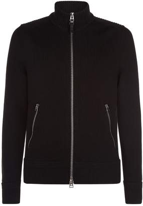 Tom Ford Wool Zip-Up Funnel Neck Cardigan