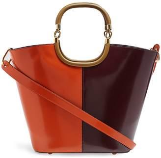 Marni Maili tri-colour leather bucket bag